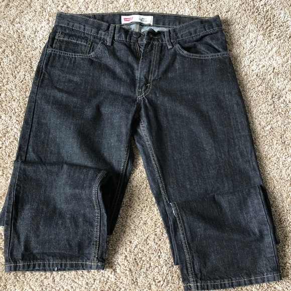 e9556da2 Levi's Bottoms | Levis 505 Straight Jeans Boys Husky | Poshmark